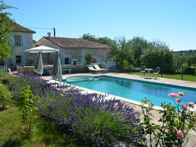 Photo for Lovely spacious holiday country house in the Charente with private pool