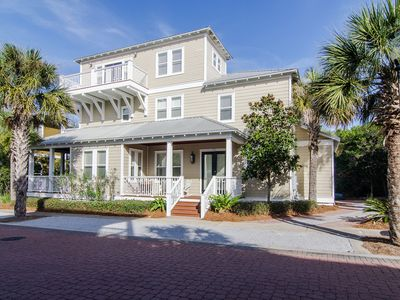 Photo for Sand In Your Sox~2 Masters, 5 Decks, Outdoor Kitchen, Near Beach, Pool & Dining!
