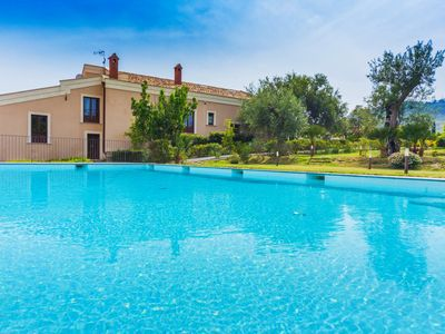 Photo for Sicilian style, private pool, private orchard