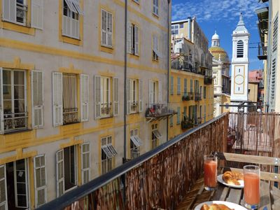 Photo for Super cute apartment with sunny balcony and lovely views of Place Rossetti