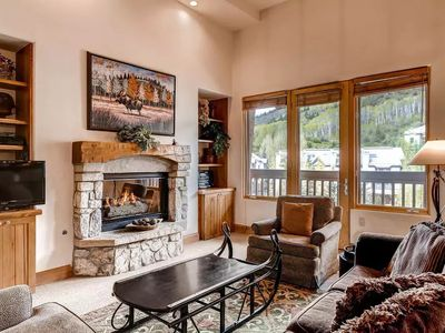 Photo for Premium Condo with a Fireplace and SKI-IN/SKI-OUT Access | 15 Minutes from Vail Mountain