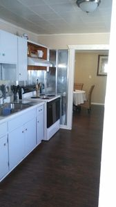 Kitchen Fully Equipped: Mircrowave, toasteroven, coffee maker, stove and fridge.