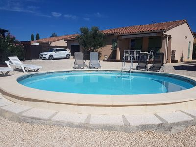 Photo for Villa sleeps 6, air conditioned, with private pool and pétanque court.