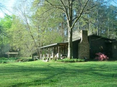 Photo for Relaxing Getaway On 5 Acres Surrounded By Peaceful Woods 20 min from LakePoint