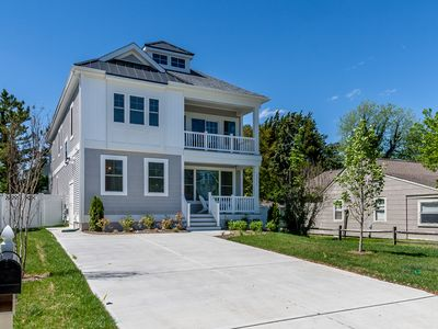 Photo for Booking 2019 Reservations! Brand New 6BR Sleeps 16 Three Living Area ONLY 15 Min Walk to Dewey Beach!