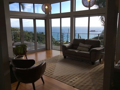 Photo for Panoramic sea views looking down onto Palm Beach and the Islands beyond.
