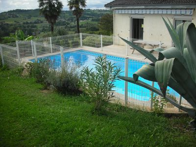 Photo for Private swimming pool - Panoramic view of the Pyrenees