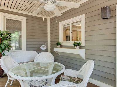 Photo for 7629 Huntington | 3 Minute Walk to Beach | Screened Porch w/ Lagoon View | Heated Complex Pool