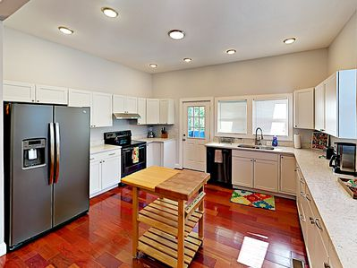 Kitchen - Updated and renovated inside and out. Your rental will be meticulously clean for your arrival, thanks to TurnKey's professional housekeeping team.