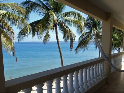 Photo for Luxury 2 BR 2BA condo on the Caribbean Sea w/ oceanfront pool &  jacuzzi!