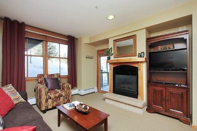 Access the ski slopes right off of your porch!