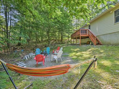 Photo for NEW! Bushkill Home w/Yard, Game Room & Pool Access