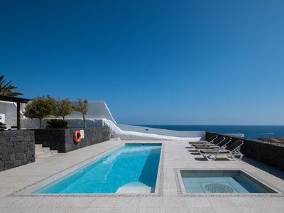 Photo for Luxury Sea Front Villa With Private Heated Swimming Pool And Sea Views