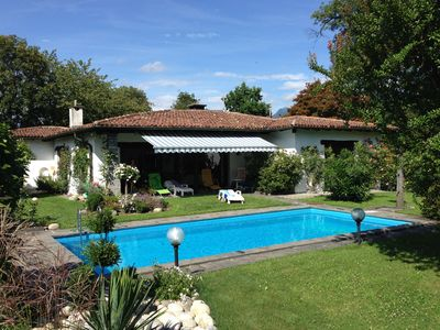 Photo for Villa with swimming pool & a large garden with a double garage and parking space