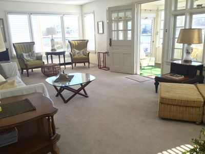 Another view of Living Room. Located off the Sun Porch with views of Sylvan Lake