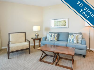 Photo for Two-bedroom resort condo w/private balcony & pool view!