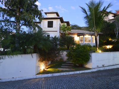 Photo for Large house on land center with 4 suites, pool, Geribá Prox Beach