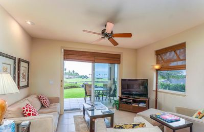 Photo for Luxury Resort Condo with Beautiful Ocean Views off of Golf Course *Private Lanai & BBQ, WiFi Included*