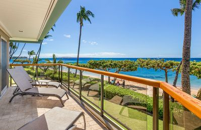Photo for West Maui's Hidden Beachfront Gem – Puunoa Beach Estates #205 – Luxurious 3BR Villa w/ Stunning Ocean Views!