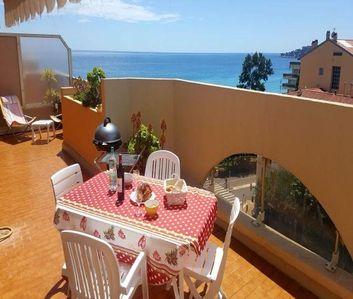 Photo for NEAR BEACH - 3 ROOMS WITH LARGE TERRACE SEA VIEW