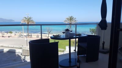 Photo for CALA MILLOR directly on the beach! New, exclusive apartment