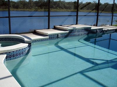 Large  pool with fabulous views of lake, conservation and wildlife