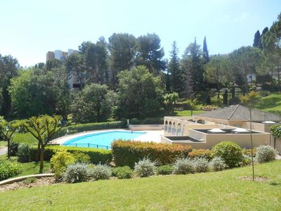 Photo for Apartment in superb secured residence with swimming pool, tennis, golf ...