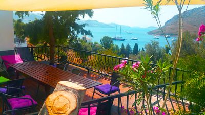 Lounge On The Villa's Veranda With Its Welcome Cool Breezes And Superb Seaviews!