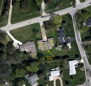 Here is a bird's eye view of the property that shows how it's set up.