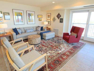 Photo for LINENS & DAILY ACTIVITIES INCLUDED*!  OCEANFRONT UNIT/ ROOFTOP POOL Beautifully updated oceanfront unit is comfortable enough to make you want to stay in and watch the waves from your sofa