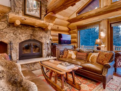Photo for Bear Creek Cabin: Custom Log Home w/ Amazing Views, Hot Tub & Pool Table