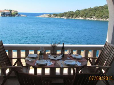 Photo for One bedroom apartment near beach Zaklopatica, Lastovo (A-8346-e)