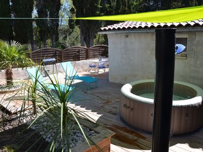 Photo for Rent quiet house with private Jacuzzi in Vallon Pont d Arc ARDECHE
