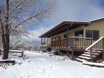 Photo for Beautiful, secluded 30 acre mountain retreat with amazing views.