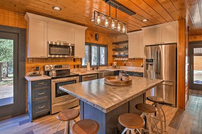 Prepare family favorites in this custom fully equipped kitchen.