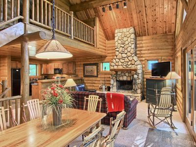 Photo for 3BR Mountain Cabin - Skier and Golfer Paradise, Private, Sleeps 10