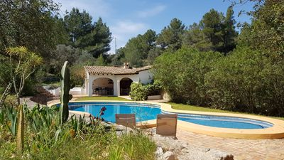 Photo for Stay in a Natural Park near Dénia. 13,000m2 private garden. Beach few mins away!