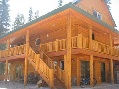 From rear - 3 story brand new cabin