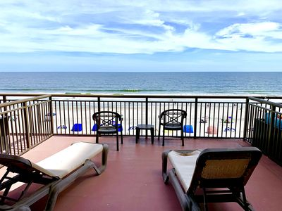 Photo for 5th Floor Renovated, KING, HUGE OCEANFRONT BALCONY, Pools, Hot Tubs & More!