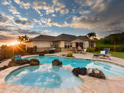 Private pool, Spacious home, Lanai, Gold Coast, Posh & cozy, Kahaki Estates Hale