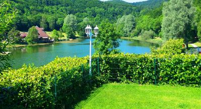 Photo for Cottage on the shores of the bathing lake for families + groups in the Eifel / Maria Laach