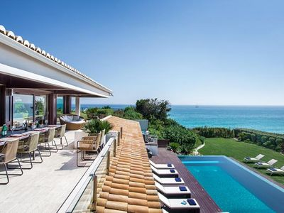 Photo for DELUXE VILLA. SLEEPS 16. MODERN INTERIORS AND BEACH FRONT L791