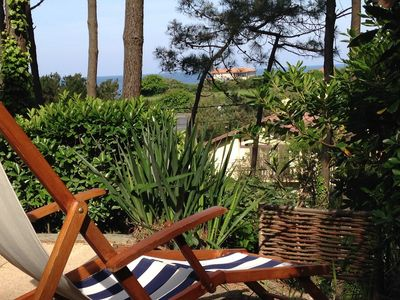 Photo for T2Bis Basque Coast Anglet, Sea view, 400m beach, terrace-TV-Internet & Parking