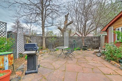 Spend your evenings grilling on this spacious patio.
