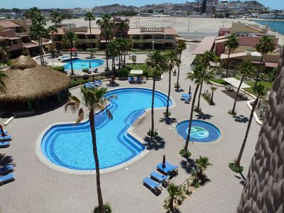 Photo for Remodeled 1 Bedroom 1 Bath Condo Overlooking Crystal Blue Pools & Sea of Corteze
