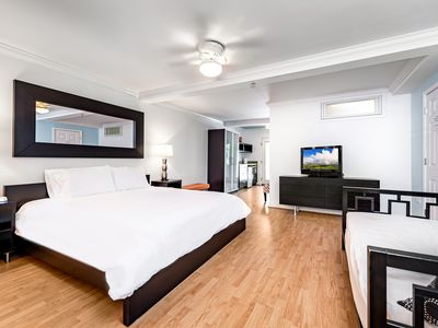 Photo for Studio King - one king bed; one twin day bed (pet friendly)