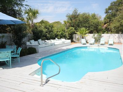 Photo for 90 Steps to the Beach! Beautiful Inground Pool with privacy fence.