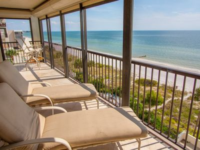 Photo for Corner Two bedroom Overlooking the Gulf of Mexico
