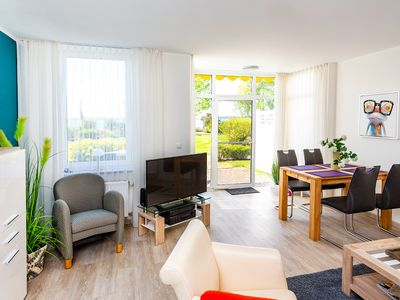 Photo for Apartment with terrace overlooking the Binnenmüritz