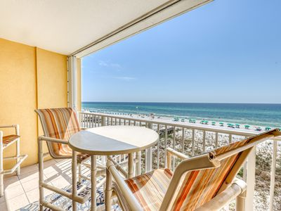 Photo for Family-friendly beachfront condo with shared pool and beach access